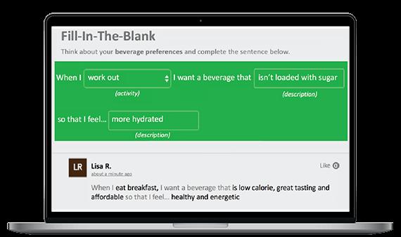 Screenshot: Fill-in-the-blank