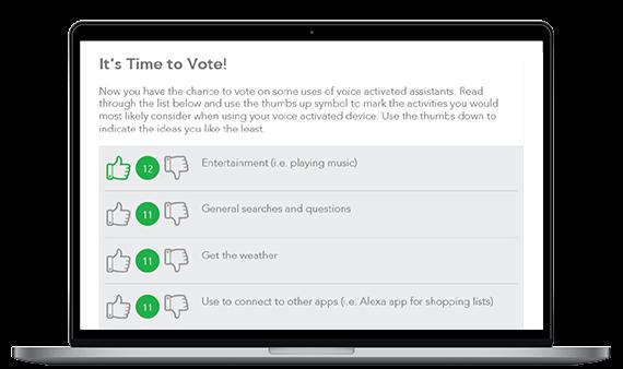 Screenshot: Quick Voting